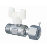 U-Ball (AU Type Ball Valves) AU6 Type, R Thread × Adapter with Nut (G Thread)