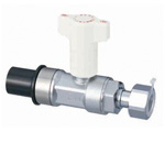 CBL26 Type, Ball Valve with Check Valve, HIVP x Adapter with Nut Angle Type
