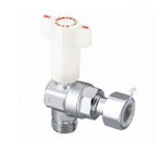 CBL20, Ball Valve with Check Valve, G Screw × Adapter with Nut, Angled