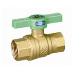 RoHS Compliant Ball Valve, FF (Full-bore), Green T Handle