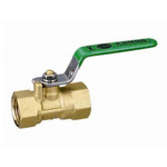 RoHS-Compliant Ball Valve, FS Type, Green Lever Handle