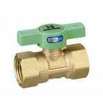 RoHS Compliant Ball Valve, FS, Green T Handle