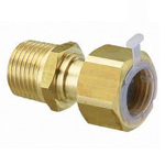 Metal Piping Fitting, Adapter with Nut, with Gasket and Poly-Stopper, Made of Brass
