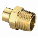 Fitting for Copper Tube, Male Adapter, R Screw Mounted, Made of Brass