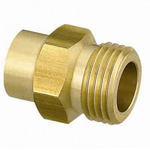 Fitting for Copper Tube, Male Adapter, G Screw Mounted, Made of Brass