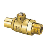 S-Type (Solder) Ball Valve, S3 Type, Copper Tube Connection × R Screw