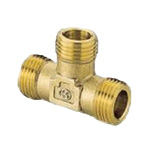 Metal Pipe Fitting, 1/2 Exterior Flexible Tees, Made of Brass