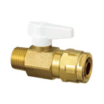 Double Lock Valve, WB1 Type, Taper Male Screw, Single-Touch Removable Handle, Made of Brass