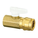 Double Lock Valve, WB2, Tapered Female Screw, Single-Touch Detachable Handle