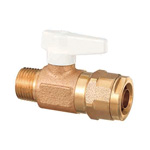 Double-Lock Valve, WB5 Type, Tapered Male Thread, Single-Touch Removable Handle, Bronze