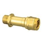 Double Lock Joint, WJ12 Type, Long Water Pipe Adapter, Bronze