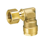 Double Lock Joint, WL12, Elbow Adapter, Brass