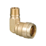 Double Lock Joint, WL1 Type, Elbow Tapered Male Screw, Made of Bronze
