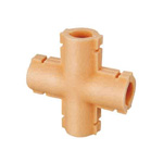 Double Lock Joint, Thermal Insulation Materials for Fittings, Cross