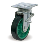 Steel Plate Caster with Swivel Stopper JB Hardware, UP/JB