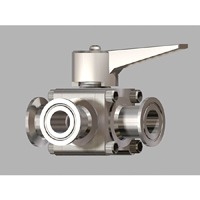 Small Caliber, Manual 3-Way Ball Valve