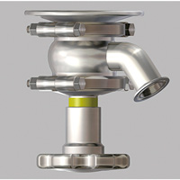 Manual F-Shaped Flanged Separation Type Tank Valve