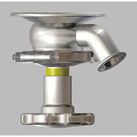 Hand Operated F-Shaped Integrated Flange Type Tank Valve