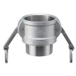 Stainless Steel Lever Coupling - Male Screw Type Coupler OZ-B