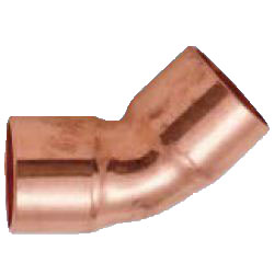 Copper Pipe Fittings, Brazing Materials (for R32 and R410A Refrigerants), 45° Elbow