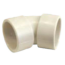 Drain Pipes, Fittings for Drain Pipes, Drain Pipe 45° Elbow (Ivory), K-HEN
