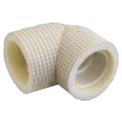 Drain Pipes, Fittings for Drain Pipes, Drain Pipe Elbow (Ivory) with Heat Insulating Materials, K-HEEH