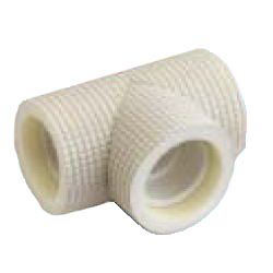Drain Pipes, Fittings for Drain Pipes, Drain Pipe Tee (Ivory) with Heat Insulating Materials, K-HETH