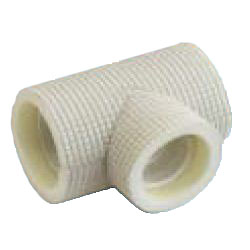 Drain Pipes, Fittings for Drain Pipes, Drain Pipe Different-Diameter Tee (Ivory) with Heat Insulating Materials, K-HETH