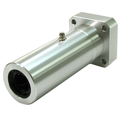 Linear Bushing Housing with Flange LFWL Type, Long, Rectangular Flange, Aluminum Case, with Lubrication Hole