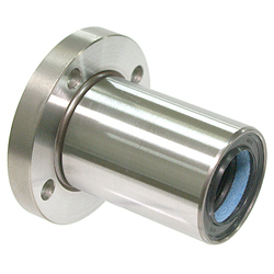 Maintenance-Free Linear Bushing with Flange LF-MF Type, Single, Round Flange