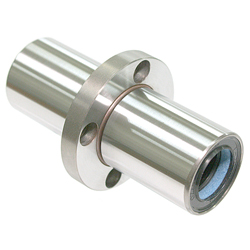 Maintenance-Free Linear Bushing with Flange LFDC-MF Type, Double, Center Position, Round Flange