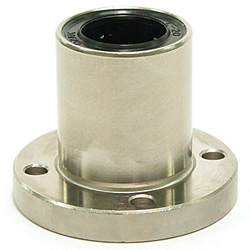 Linear Bushing with Flange LFM Type (ECO Series), Single, Round Flange