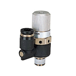 Single Unit Type Electromagnetic Valve Direct-Mounting, Straight Type Air Release