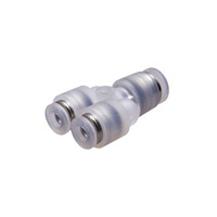 Tube Fitting PP Type Different Diameters Union Y for Clean Environments
