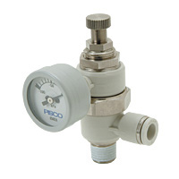 Vacuum Regulator with ø30 Vacuum Gauge Elbow B Type