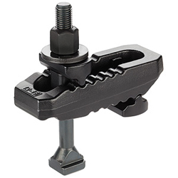Clamps, slotted, with adjustable counter piece, with T-Bolt