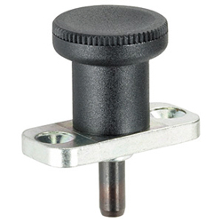Index Plungers, with mounting flange