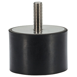 Rubber Endstop Buffers, cylindrical