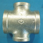 Steel Pipe Fitting, Threaded Pipe Fitting, 4-Way Reducing Cross