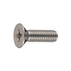 Phillips Flat Head Screw with Through-Hole