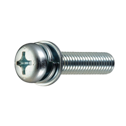 Phillips Pan Head Screws I=4 (SW+ISO Small Flat W)