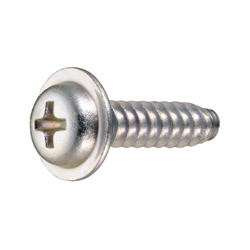 Cross Recessed Pan Washer Head Tapping Screws, 2 Models Grooved B-1 Shape