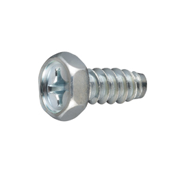 Cross Recessed Hex Upset Tapping Screw, Type 2 Grooved B-1 Shape