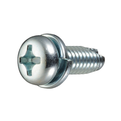 Cross Recessed Pan Head Tapping Screws, 3 Models Grooved C-1 Shape, P=2 (SW)