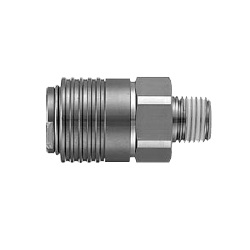 KKA*S-*M, S-Couplers, Stainless Steel, Male Thread
