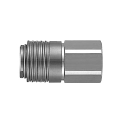KKA*S-*F, S-Couplers, Stainless Steel, Female Thread