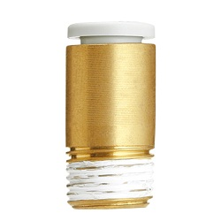 KQ2S, One-touch Fitting White Color - Hexagon socket head male connector
