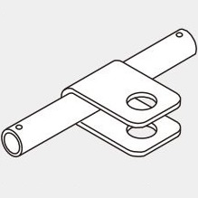 Hand Truck Connecting Element for Pipe Frame, JB-712B