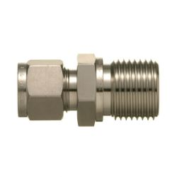 SUS316 Stainless Steel Double Ferrule Fitting Male Connector (Straight Thread Type)