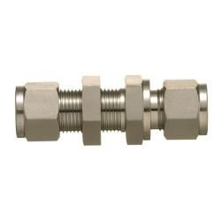 SUS316 Stainless-Steel Double Ferrule System Bulkhead Union